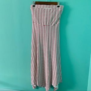 Dresses & Skirts - Red and White Striped Swing Maxi Dress